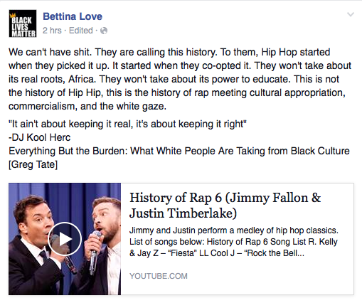 """Questioning the """"History"""" of Rap: Critical Thoughts on the Fallon"""
